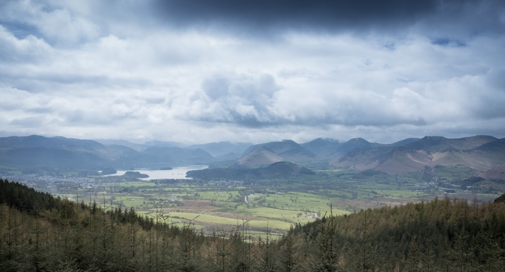 View towards Keswick and Derwent Water