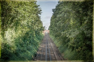 Railway track in Winchester