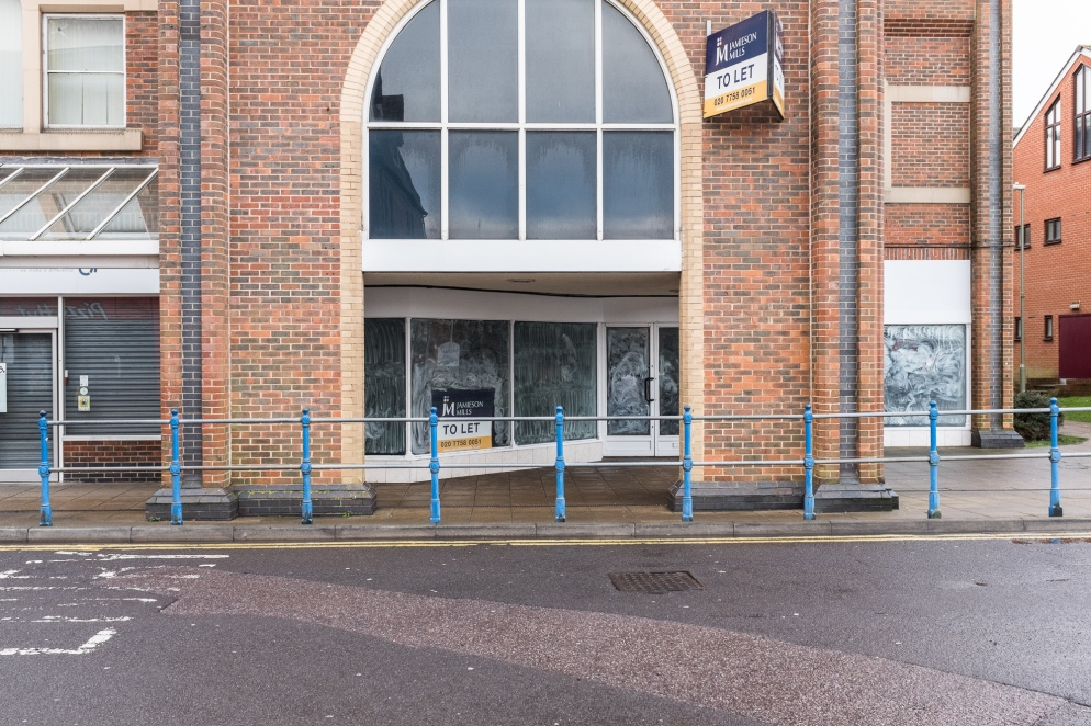 A shop stands empty in Eastleigh, Hampshire, United Kingdom UK.