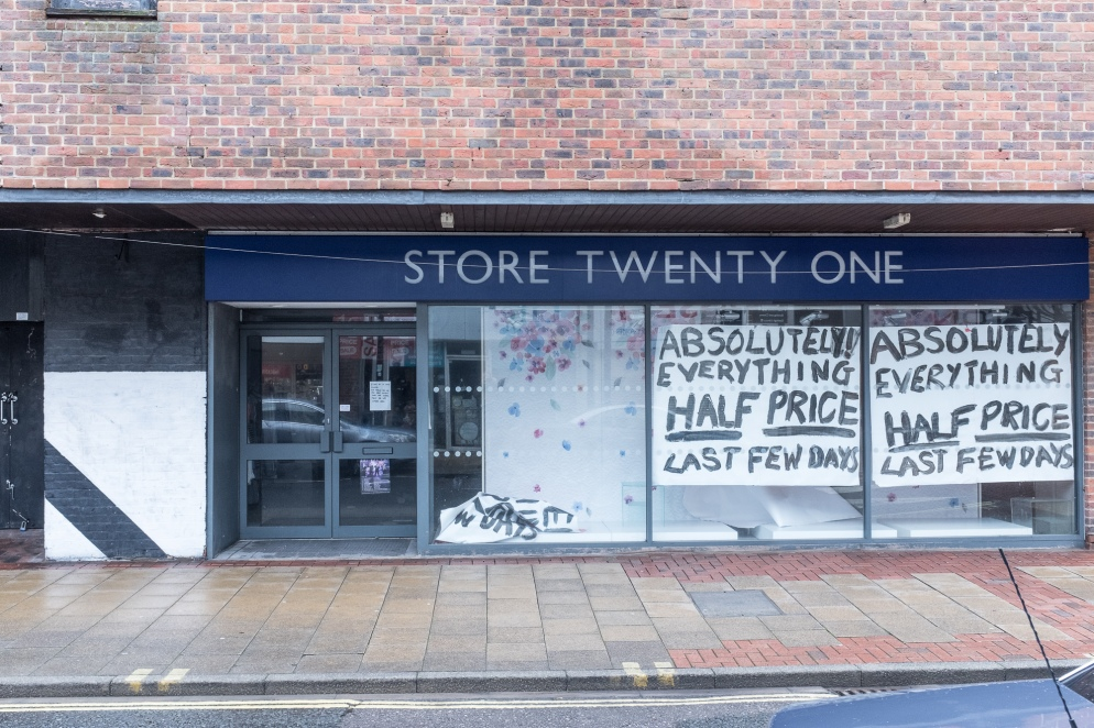 Empty shop in Eastleigh, Hampshire, UK