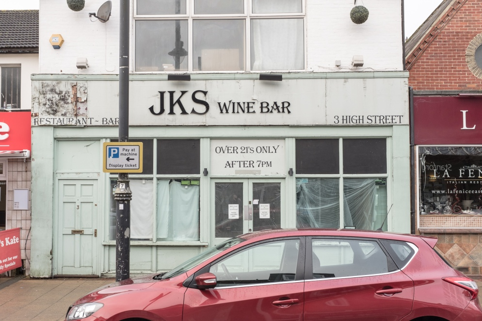 An empty former bar in Eastleigh, Hampshire, UK