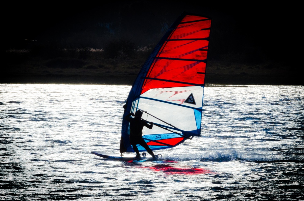 Windsurfer at Calshot, Hampshire, UK