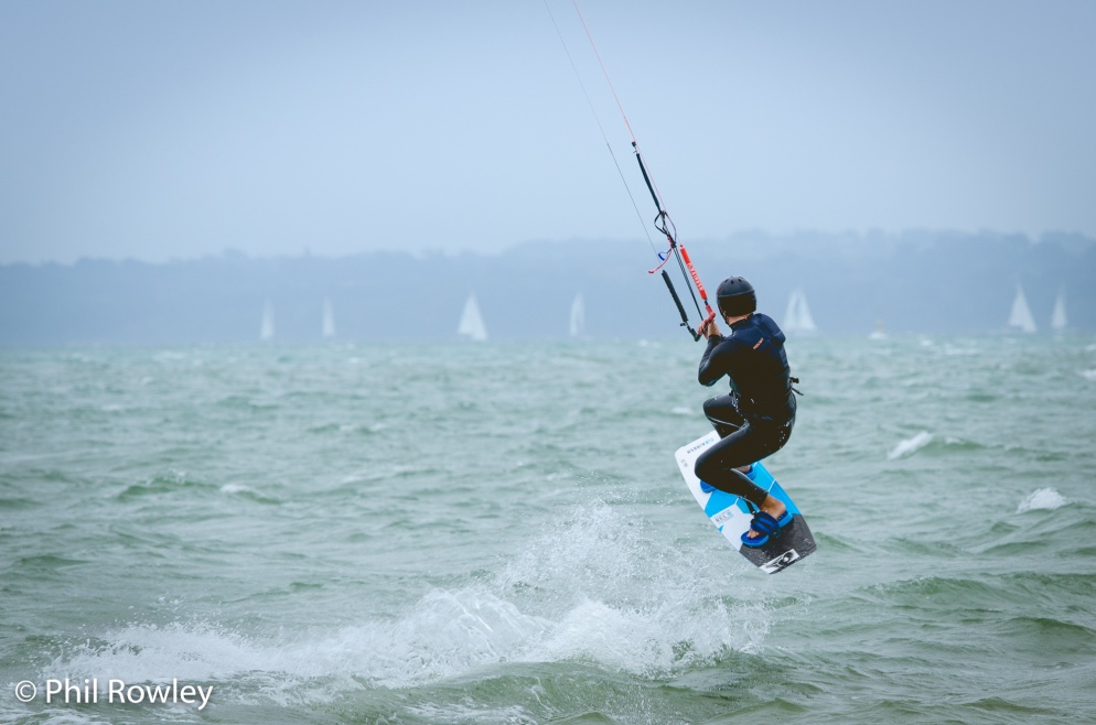 Kite Surfer at Calshot, Hampshire